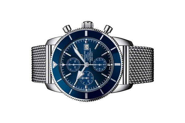 Đồng hồ Breitling Superocean Heritage II Chronograph 46 Thép Mặt Số Xanh