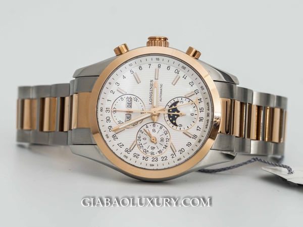 Đồng Hồ Longines Conquest Chronograph MoonPhase Mặt Trắng