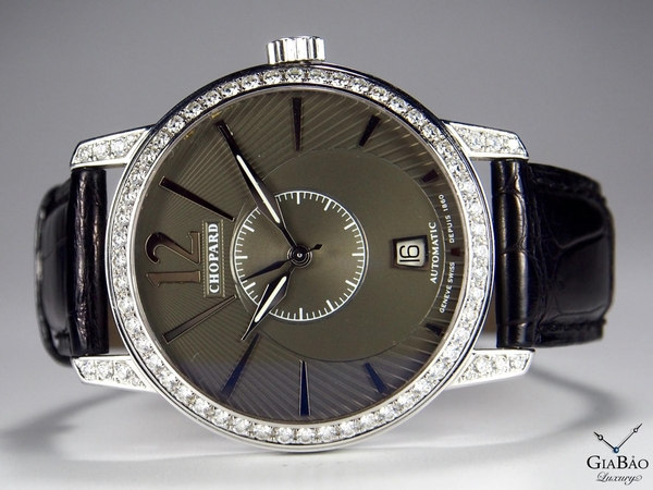 Đồng Hồ Chopard Josep Carreras Automatic Black Dial White Gold Diamond Limited