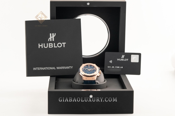 Đồng Hồ Hublot Classic Fusion Blue Chronograph King Gold 45mm 521.OX.7180.LR