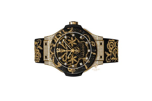 Đồng Hồ Hublot Big Bang Broderie Sugar Skull Gold Diamonds 41mm 343.VX.6580.NR.0804