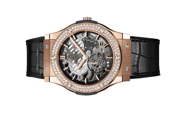 Đồng Hồ Hublot Classic Fusion Classico Ultra-thin Skeleton King Gold Diamonds 45mm 515.ox.0180.lr.1104