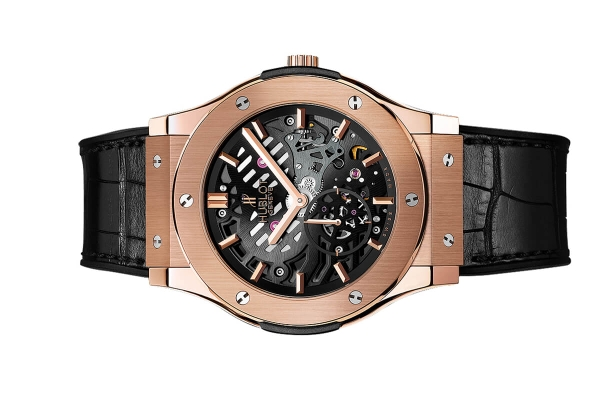 Đồng Hồ Hublot Classic Fusion  Ultra-thin Skeleton King Gold  45mm 515.ox.0180.lr