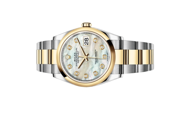 Đồng Hồ Rolex Datejust 36 126203 Mặt Số Vỏ Trai Trắng Dây Đeo Oyster