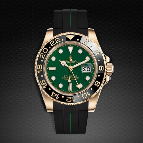 Dây cao su Rubber B cho đồng hồ Rolex GMT Master II Ceramic - Tang Buckle Series VulChromatic®