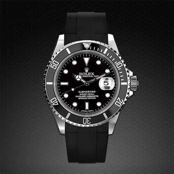 Dây cao su Rubber B cho đồng hồ Rolex Submariner Ceramic - Tang Buckle Series