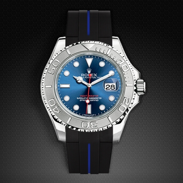 Dây cao su Rubber B cho đồng hồ Rolex Yachtmaster 40mm - Classic Series VulChromatic®