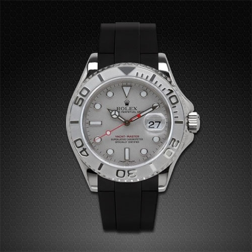 Dây cao su Rubber B cho đồng hồ Rolex Yachtmaster 40mm - Velcro® Series