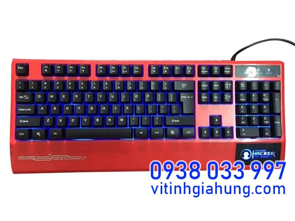 BÀN PHÍM HACKER GAMING ASSASSINS AK - 5000 (ĐỎ)