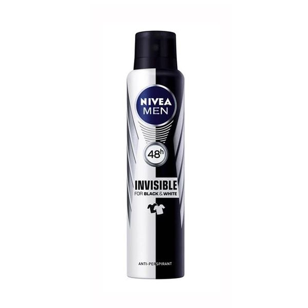 Xịt khử mùi nam NIVEA Invisible For Black & White 150ml