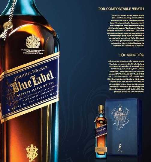 Ruou Johnnie walker blue label