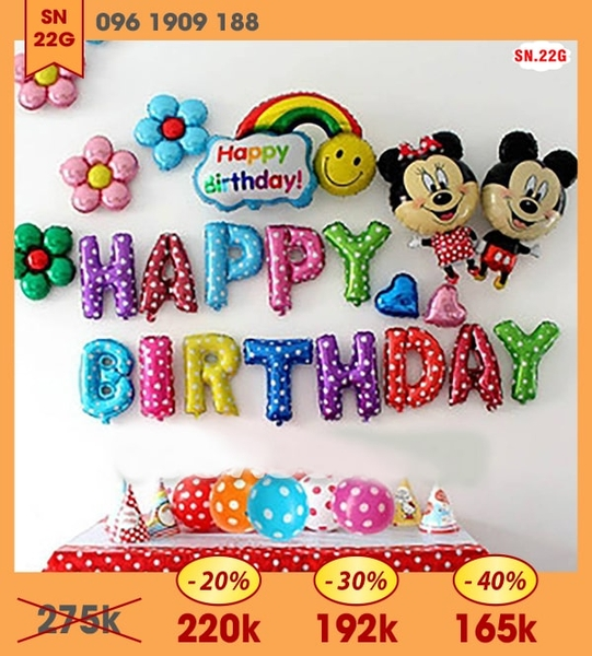 SET BÓNG MICKEY 22G