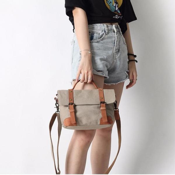 Túi vải bốkhông thấm nước đeo vai Messenger phong cách- 1360684