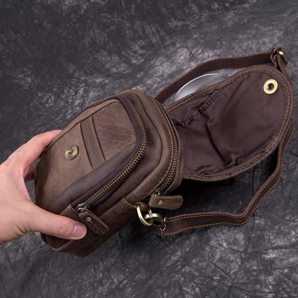 Túi đeo chéo kết hợp đeo hông da thật - 345258