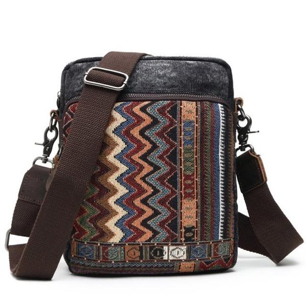 Túi đeo chéo vải bốdáng dọc kiểu dángđơn giản năng động- 1360690