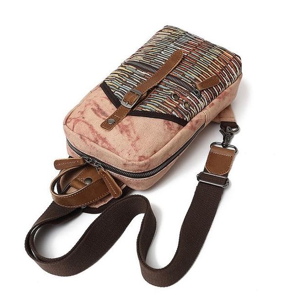 Túi đeo chéo, đeo ngực vải bốhọa tiết thổ cẩm cá tính - 1360668