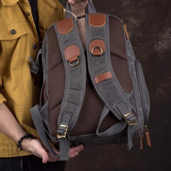 Balo túi máy ảnh DSLR vải bố chống nước - 1012597