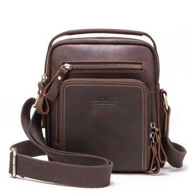 Túi đeo chéo da bò dáng dọc nhiều ngăn - 1359571