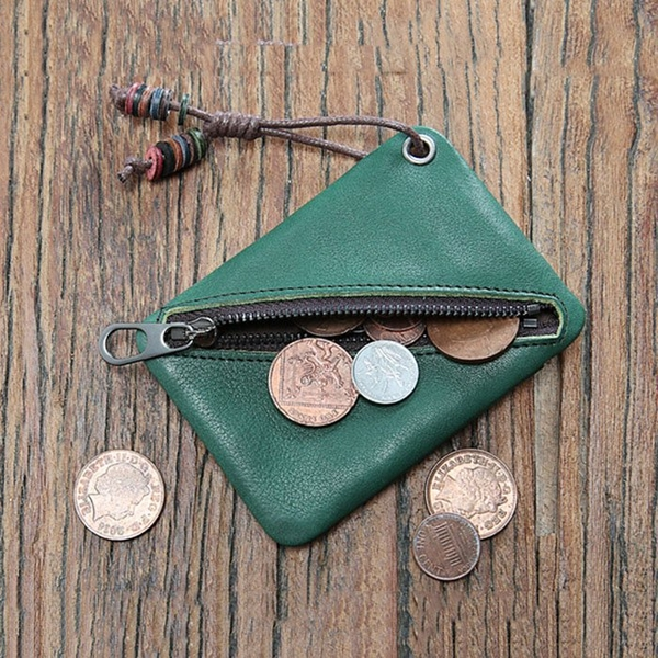 Ví móc khóa Mini da bò thật - 1313643