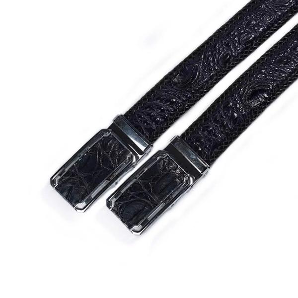 Thắt lưng da cá sấu nam đan viền ( Da lưng ) - Hàng cao cấp