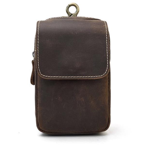 Túi đeo hông da sáp nhiều ngăn trẻ trung - 1297713