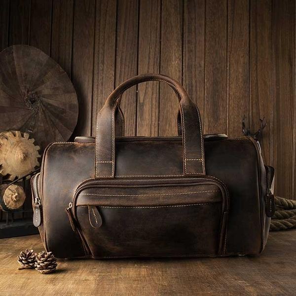 Túi xách đựnghànhlý retro da thật - 1412731