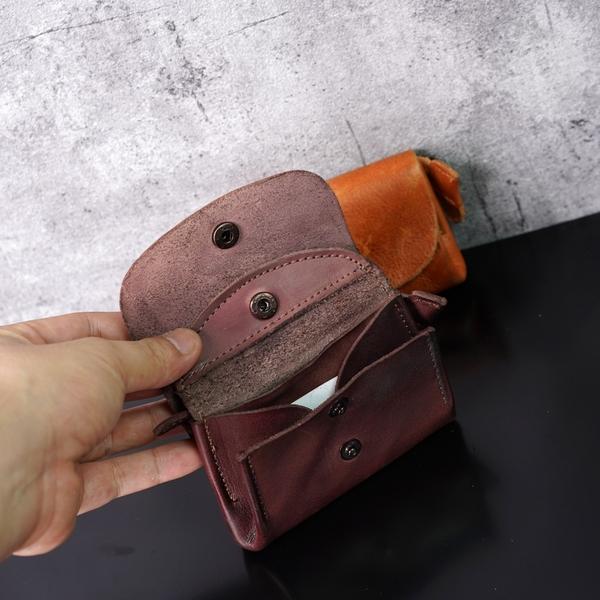 Ví da bò retro handmade siêu chất- 877386