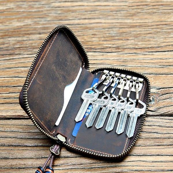Ví đựng khóa, đựng thẻ mini da bò thật - 1313622