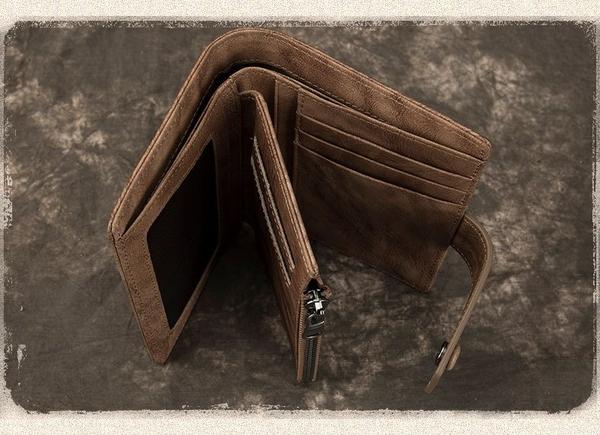 Ví ngắn nam da bò xịn có khóa bấm - 1380615