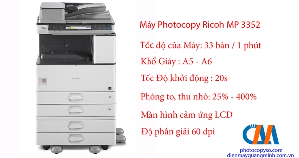 Máy Photocopy Ricoh Aficio MP 3352