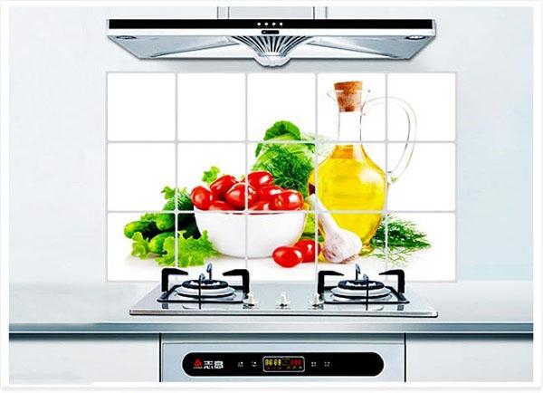 Tranh dán tườngtrang trí bếp3D chịu nhiệt