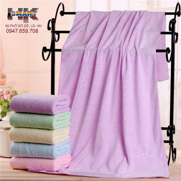 Khăn tắm cotton cao cấp hìnhGấu 70 x 140 cm