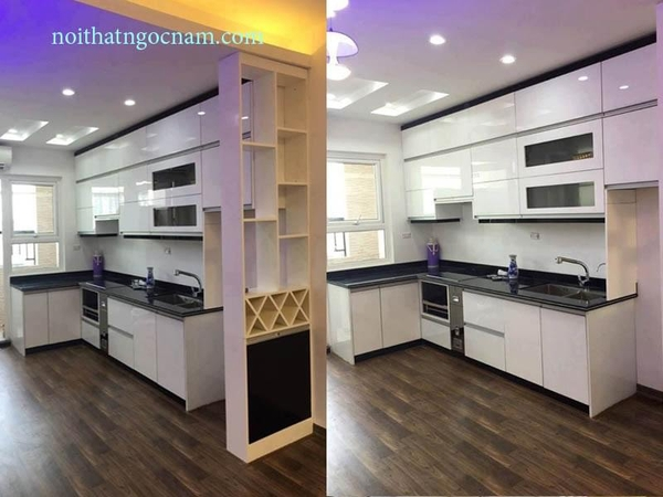 So sánh giữa tủ bếp Laminate và tủ bếp Acrylic nên đóng loại nào