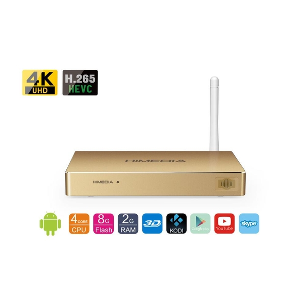 Android Box Himedia Q8 IV - Quadcore -2G Ram, 3D, 4K, Bluray