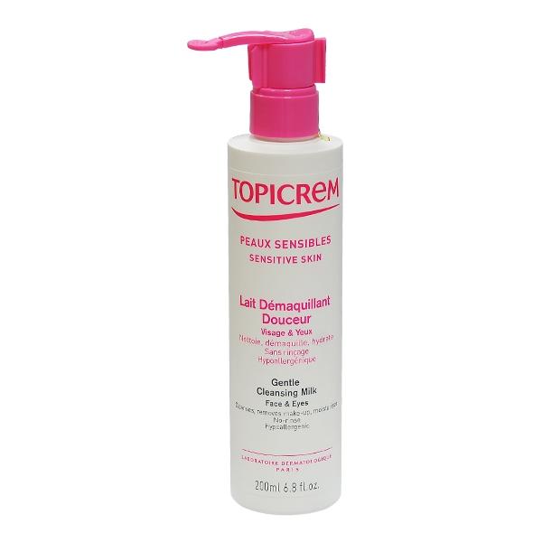 Sữa rửa mặt Gentle Cleansing Milk Face & Eyes - Topicrem (200ml)
