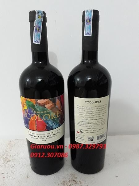 Kết quả hình ảnh cho vang chile 7colores gran reserva cabernet sauvignon