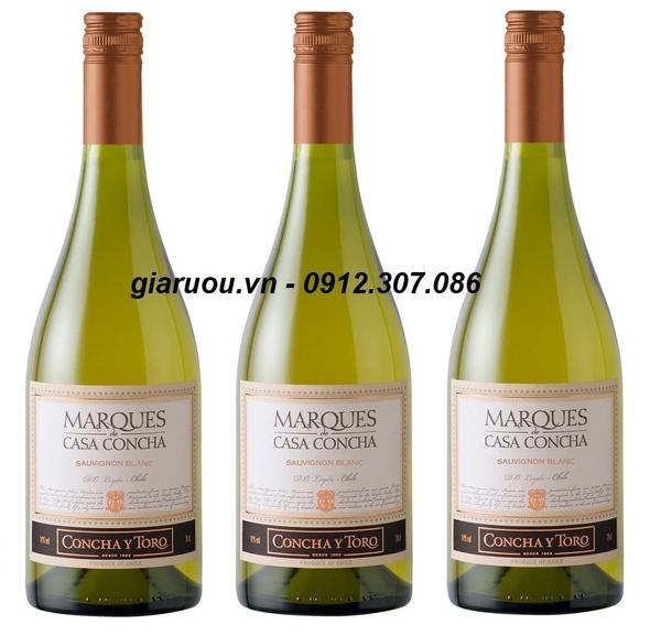 Kết quả hình ảnh cho giá vang chile marques casa concha blanc