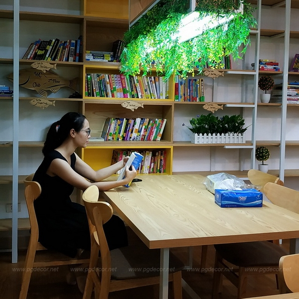 Thi công nội thất Bookcafe Real Reader