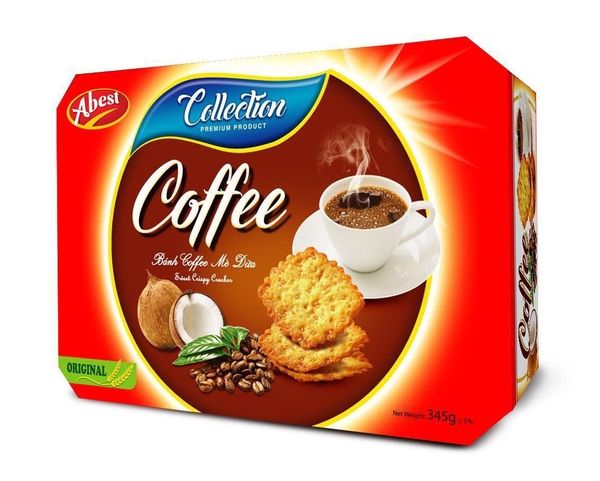 Abest - Sweet Crispy Crackers - Taste of coffee, sesame and coconut