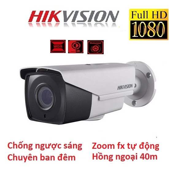 CAMERA HIKVISION 2MP DS-2CE16D8T-IT3Z CHỐNG NGƯỢC SÁNG ZOOM FX