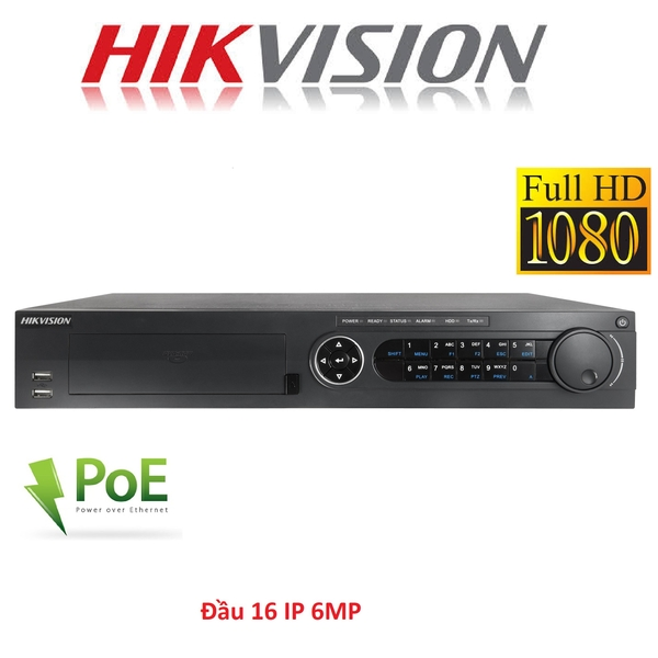 ĐẦU 16 IP HIKVISION DS-7716NI-E4/16P 6MP HỖ TRỢ POE