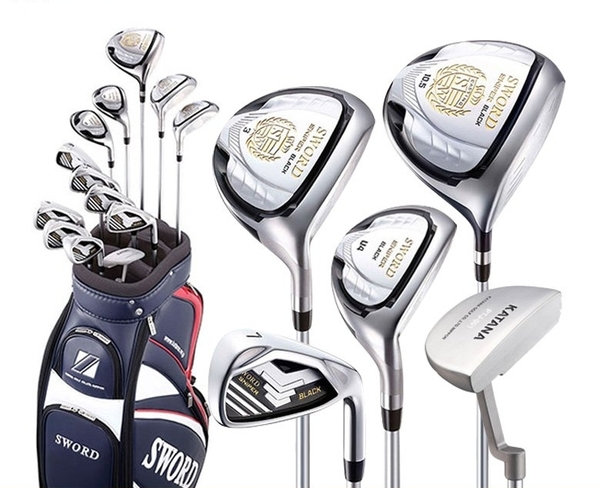 FULL SET SWORD :iron set 6-9 A,P,S; Driver 10.5; Gỗ 3,5; Rescue 4 ,5; Putter + Túi gậy+ túi xách