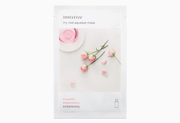 Mặt Nạ Giấy Chiết Xuất Hoa Hồng Innisfree My Real Squeeze Mask #Rose