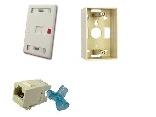 Bộ Wall Plate (Ổ cắm mạng) AMP 1 Port /OUTLET