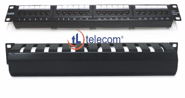 Patch panel 24-port CAT5e UTP Alantek Part Number: 302-201001-2400