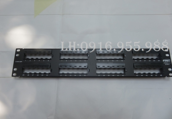 Patch panel AMP 48 port CAT6 | PN: 1375015-2