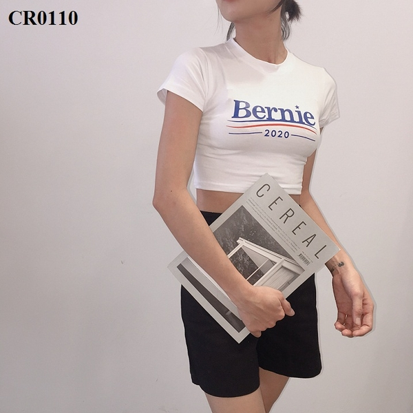 CR0110 - Croptop cotton 100% Bernie - sỉ 55k