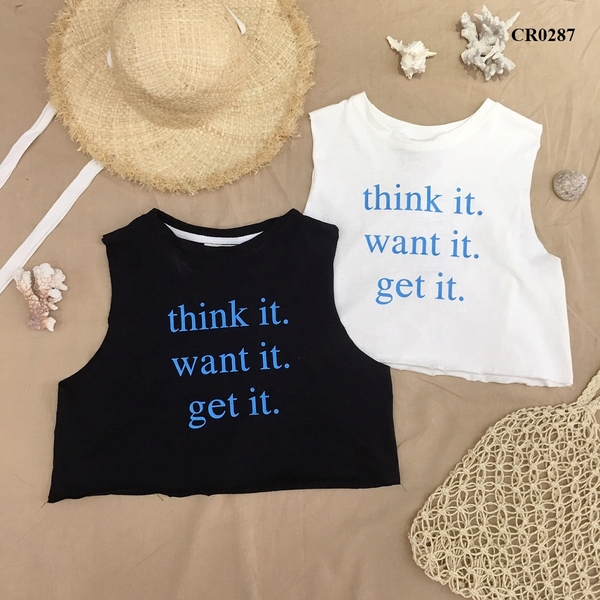 CR0287 - ÁO XƯỢC TANKTOP IN WANT IT - SỈ 95K