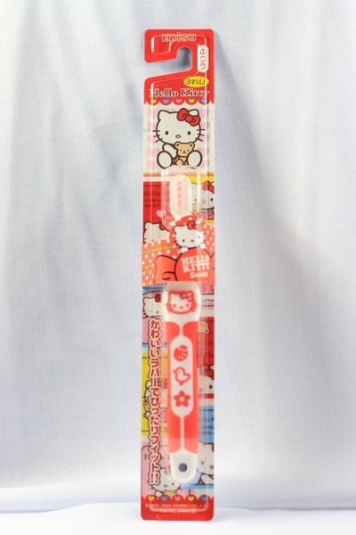 Bàn chải đánh răng Ebisu-Hello Kitty Rubber Handle Over 3 Age - S-741H