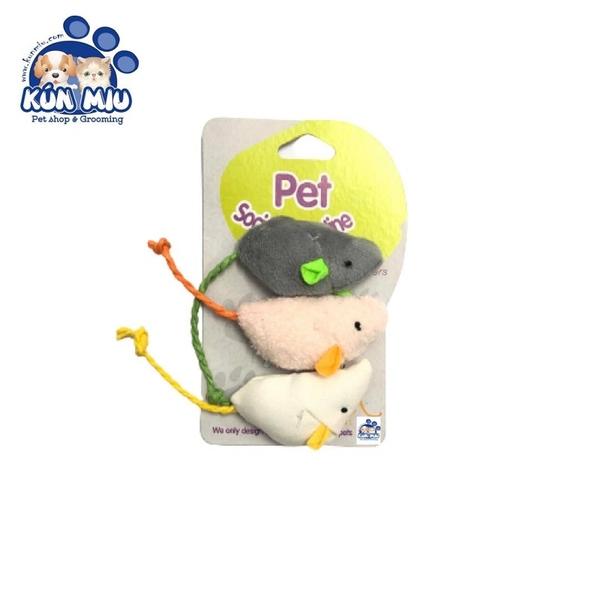 Set 3 chuột catnip đồ chơi cho mèo